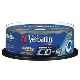 Verbatim CD-R 700MB 52x 25-pack Cakebox