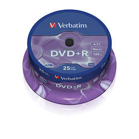 Verbatim DVD+R 4.7GB 16x 25-pack Cakebox