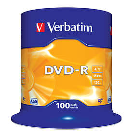Verbatim DVD-R 4.7GB 16x 100-pack Cakebox