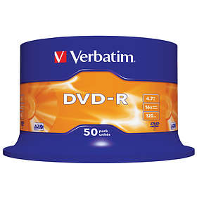 Verbatim DVD-R 4.7GB 16x 50-pack Cakebox