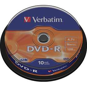 Verbatim DVD-R 4.7GB 16x 10-pack Cakebox