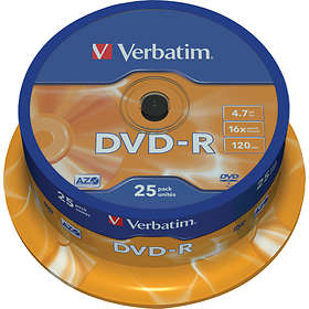 Verbatim DVD-R 4.7GB 16x 25-pack Cakebox