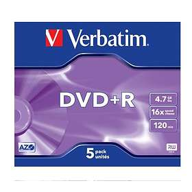 Verbatim DVD+R 4.7GB 16x 5-pack Jewel Case