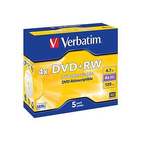 Verbatim DVD+RW 4.7GB 4x 5-pack Jewel Case