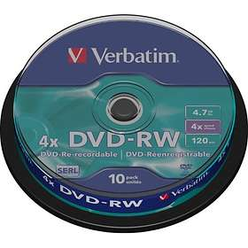Verbatim DVD-RW 4.7GB 4x 10-pack Cakebox