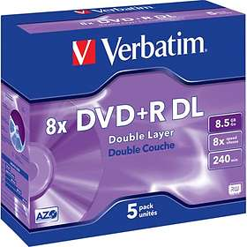 Verbatim DVD+R DL 8.5GB 8x 5-pack Jewel Case