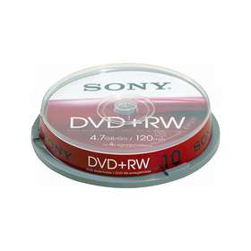 Sony DVD+RW 4.7GB 4x 10-pack Cakebox