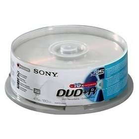 Sony DVD+R 4.7GB 16x 25-pack Cakebox