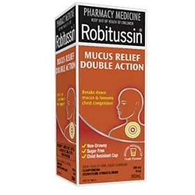 Pfizer Robitussin Mucus Relief Double Action Elixir 200ml