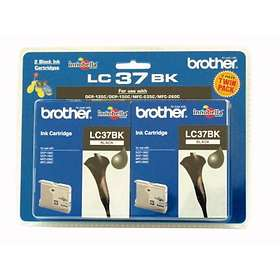 Brother LC37BK (Black) 2-pack