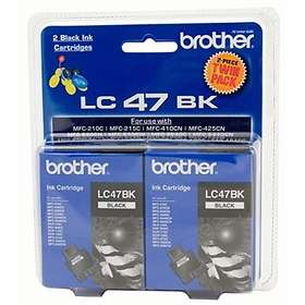 Brother LC47BK (Black) 2-pack