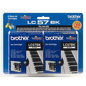 Brother LC57BK (Black) 2-pack
