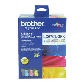 Brother LC67 (Cyan/Magenta/Yellow)