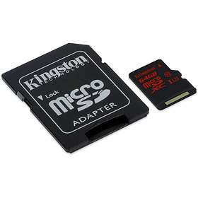 Kingston microSDXC Class 10 UHS-I U3 90/80MB/s 64GB