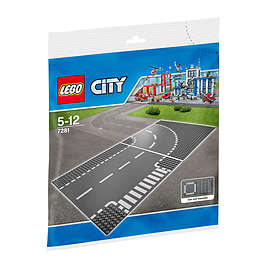LEGO City 7281 T-Junction Curved Road Plates
