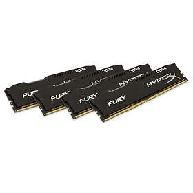 Kingston HyperX Fury Black DDR4 2400MHz 4x4GB (HX424C15FBK4/16)
