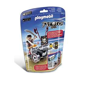 Playmobil Pirates 6165 Black Interactive Cannon with Raider