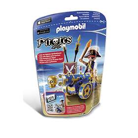 Playmobil Pirates 6164 Blue Interactive Cannon with Pirate