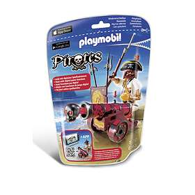 Playmobil Pirates 6163 Red Interactive Cannon with Buccaneer
