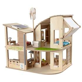 Plan Toys Green Dollhouse With Furniture (715600)