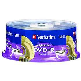Verbatim DVD+R 4.7GB 16x 30-pack Cakebox Lightscribe