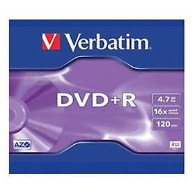 Verbatim DVD+R 4.7GB 16x 1-pack Jewel Case