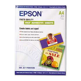Epson Photo Quality Ink Jet Paper Self-adhesive 167g A4 10pcs