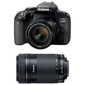 Canon EOS 800D + 18-55/3.5-5.6 IS STM + 55-250/4.0-5.6 IS STM