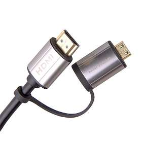 Laser HDMI - HDMI Premium High Speed with Ethernet (with Mini and Micro) 1.8m