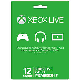 Microsoft Xbox Live Gold 12 Month Card - FIFA 16 Edition