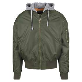 Find The Best Price On Urban Classics Hooded Oversized Bomber Jacket