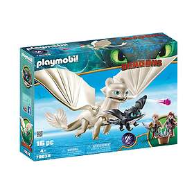 Playmobil Dragons 70038 Light Fury with Baby Dragon and Children