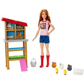 Barbie Chicken Farmer Doll & Playset FXP15