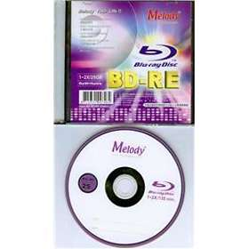 Melody BD-RE 25GB 2x 1-pack Slim Case