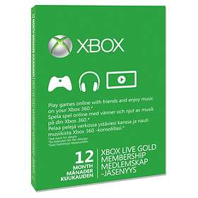 Microsoft Xbox Live Gold 12 Month Card